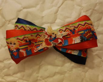 Super Girl Criss-cross hairbow