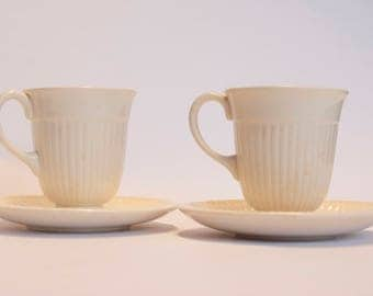 Wedgwood | Cup and saucer | Creamware | Set of two