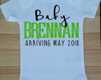 Pregnancy Announcement Bodysuit, Baby *Last Name*, Baby Last Name Bodysuit, New Baby Announcement, Family Baby Reveal, Pregnancy Photography