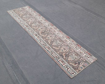 Vintage Turkish Runner Rug, Turkish Rug, Vintage Rug, Handspun Wool Rug, Nomadic Rug, Tribal Rug, Turkish Carpet, Home Decor, Home Living