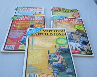 Mother Earth News, 1982 magazines, 1982 Mother Earth News, organic gardening, country living, recycling, Do it Yourself ideas. survivalist