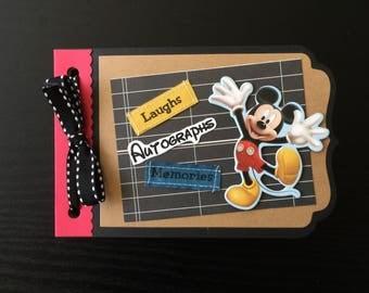 Mickey autograph book-Disney autograph book