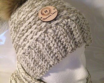 Hat, beanie and scarf set