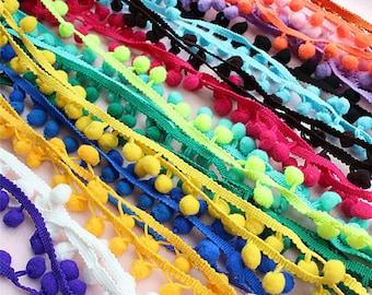 10MM PomPoms Trim Ball Fringe Ribbon DIY Sewing Accessory Lace, Pom Poms, Fringe Pompom DIY Embellishments