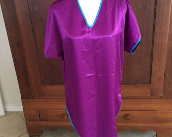 M / Val Mode / Purple and Turquise NIghtgown/ Medium
