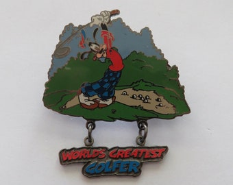 Disney Disneyland Golfer Goofy Worlds Greatest Golfer Pin