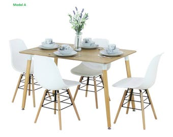 EAMES STYLE TABLE with 4 chairs -