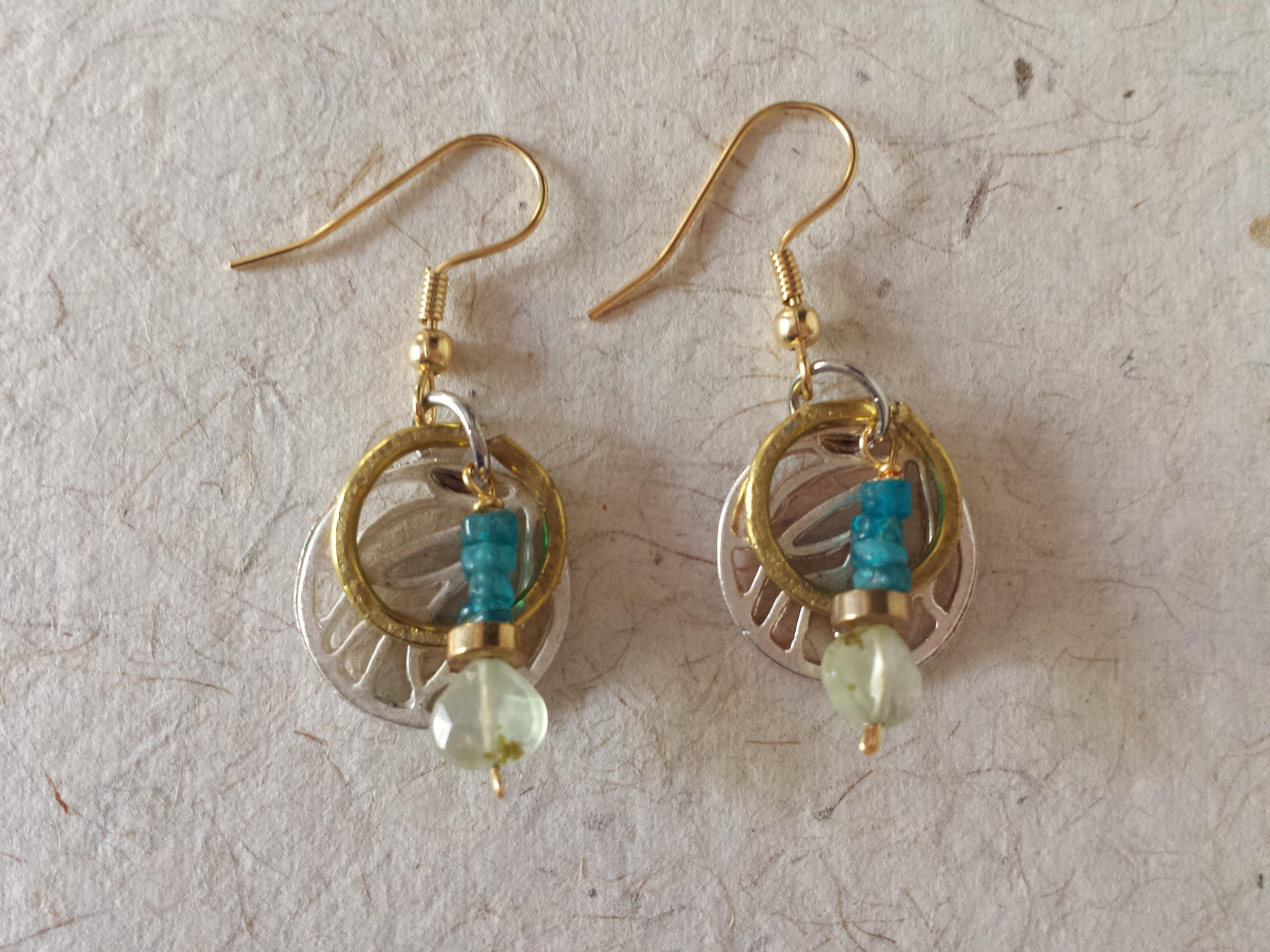 gold wire scroll drop johnsbrana earrings filled apatite with products wrapped
