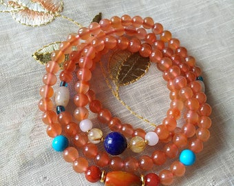 Cherry agate necklace
