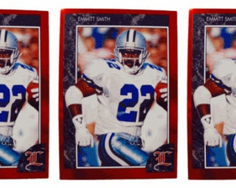 5 - 1992 Legends #6 Emmitt Smith Football Card Lot Dallas Cowboys