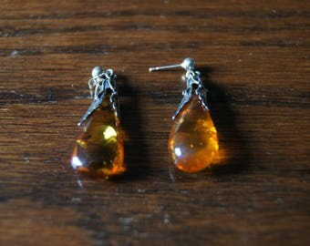 Simply Gorgeous Amber Drop Earrings