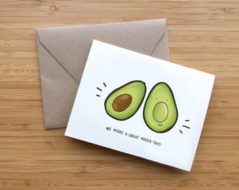 A Great Avoca-duo - Valentine's Day Card