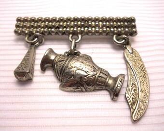 Silver Tone Tone Vintage Brooch Pin