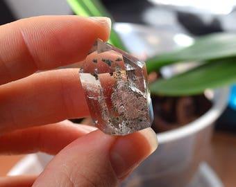 Lodolite Quartz Crystal, Lodolite Point, Garden Quartz, Included Quartz, Scenic Quartz, Shamanic Quartz, VERY CUTE- 12c