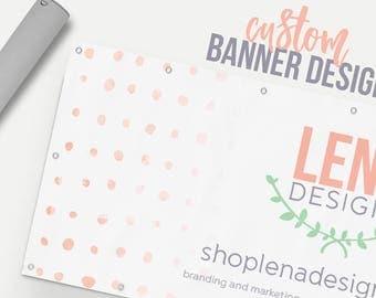 Business Banner - Custom Banner Design - Craft Show Display - Business Sign - Craft Show Sign - Event Banner - Promotional Banner Design