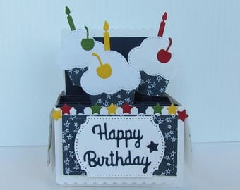 Pop Up Box Card - Happy Birthday