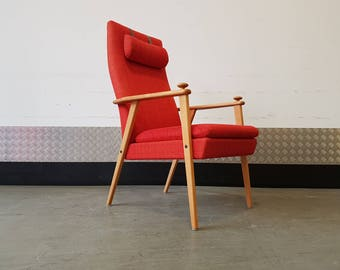 SALE SALE !!! Broderna AB Johanson Long Back Armchair 1960's Mid Century Vintage
