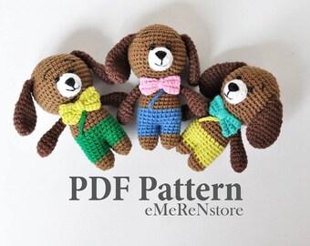 Amigurumi Dog Pattern -Christmas Crochet Pattern - Dog Crochet Pattern - Crochet Pattern Dog - Crochet Dog Pattern - Amigurumi Dog Patterns