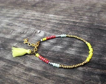 Delicate bracelet multicolored Bohemian