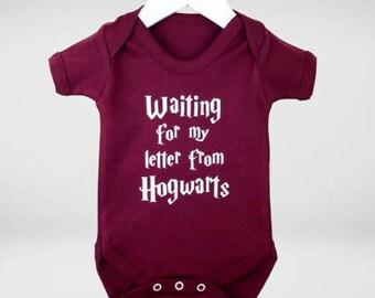 Baby harry potter waiting for my hogwarts letter bodysuit