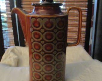 Retro Vintage Hornsea England Bronte Brown Coffee Pot (1972)