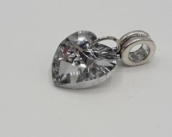 European heart bead transparent heart - A059 pendant heart glass bead