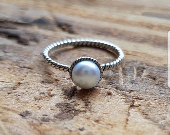 Süsswasser Perlen Ring 925 Solid Sterling Silber