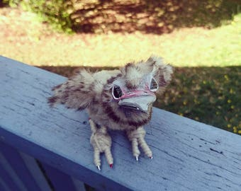 OOAK art doll Petrie the baby bird