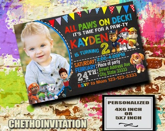 Paw Patrol Invitation / Paw Patrol Birthday / Paw Patrol Invite / Paw Patrol Party / Paw Patrol Birthday Invite / Paw Patrol Party Invite