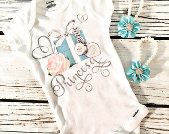 Triffany Inspired Onesie With BareFoot Sandles
