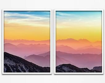 Sunset Photo, Sunset, 2 Piece Wall Art, Sunrise Art, Sunrise, Sunrise Photography, Sunset Photography, 2 Piece Set, Set of 2 Prints, 271