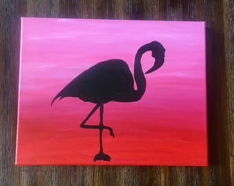 READY MADE Flamingo Canvas Painting