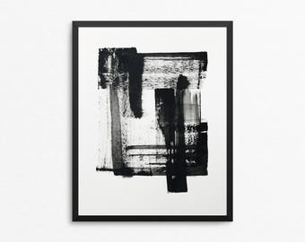 Original Painting, 8x10 Original Art, 8x10 Painting, Black and White Art, Original Abstract Art, Abstract Painting, Acrylic Painting