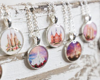 Select LDS Temple Necklaces - Salt Lake City, Provo City Center, Timpanogos, Logan, Payson, Manti, Meridian, Ogden, St George Cedar City etc