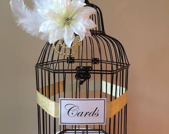 Glamorous Birdcage Card Holder, Great Gatsby Bird Cage, Bird Cage wedding Card and Gifts, Bird Cage Card Holder, Card Box