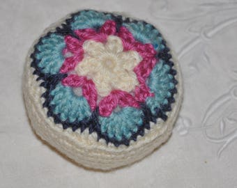Quilted flower granny crochet needles