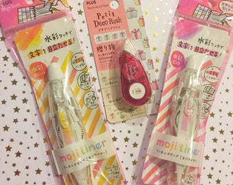 japanese deco rush moji liner correction highlighter tape