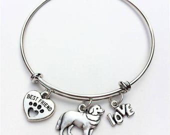 Bernese Mountain Dog Best Friend Charm Bracelet