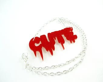 SALE 50% necklace Choker - Kawaii cute sequin dripping