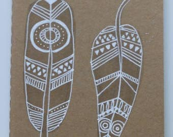 Customized Moleskine Sketchbook - individual cover - feathers I