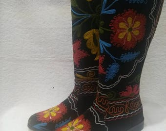 Suzani boots...Colorfull hand made.Every size...