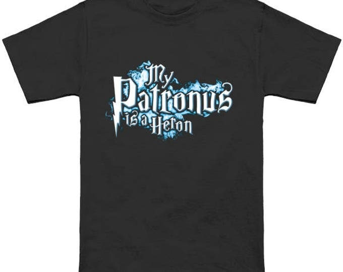 My PATRONUS Is A HERON Custom T-Shirt Magic Animal Charm Fantastic Beasts Wizard Spell Fantasy Shirt