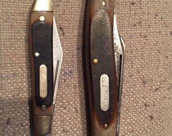 Vintage Schrade Old Timer 80T Pocket Knife with Bonus Old Timer Knife