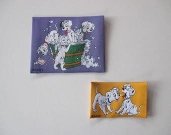 2 small dog coat sewing Dalmatian, width 8.3 cm x 6.5 cm, width 6.2 cm x 4 cm.