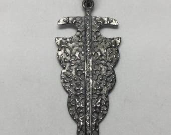 White topaz sterling silver pendant
