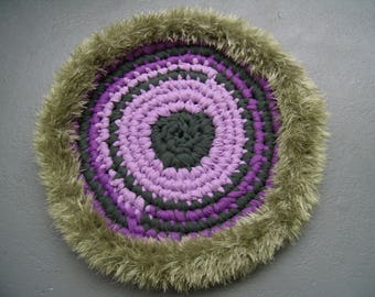 Upcycled carpet/hand made crochet rug/Gechenk idea/carpet for balcony