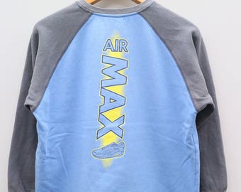 Vintage NIKE AIR Max Sportswear Blue Sweater Sweatshirt Size L