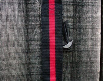 Firefighter Rifle Sling, Thin Red Line, Gifts for Him, Handwoven Sling