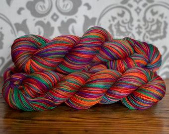 Hand dyed sock yarn- Gumbo Ya Ya
