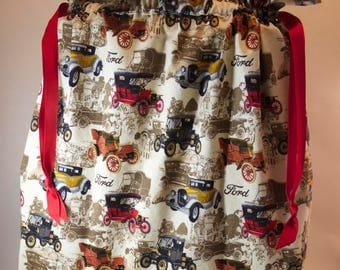 Antique Cars Gift Bag - Extra Large